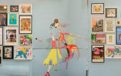 Kunst på metrohegn ved Mozarts Plads